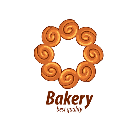 bun: design template bread. Vector illustration of icon