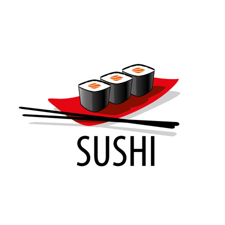 sushi logo design template. Vector illustration of icon