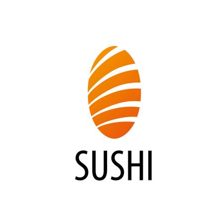 sushi logo design template. Vector illustration of icon