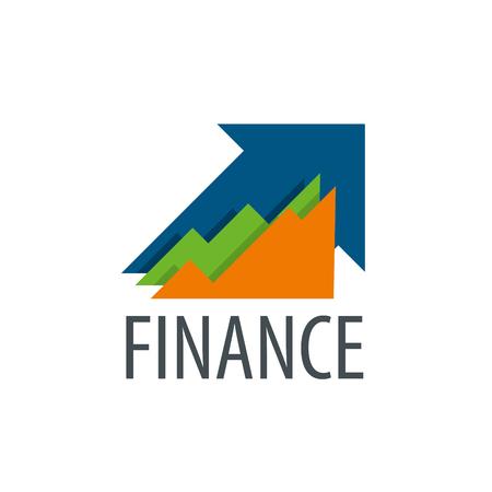 Finanza logo modello di progettazione. Illustrazione vettoriale di icona Logo