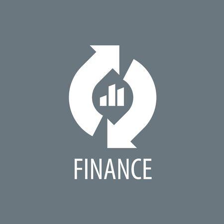 stock market quote: Finance logo design template. Vector illustration of icon