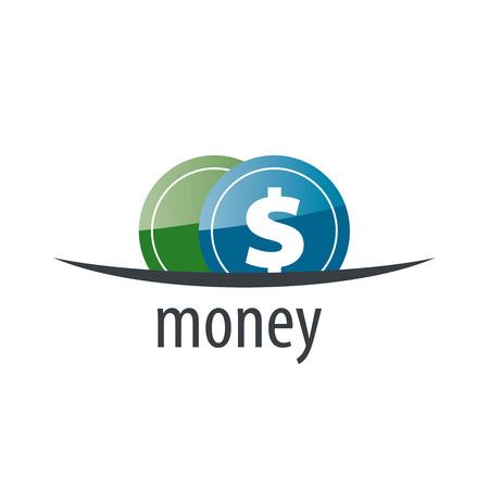 money logo design template. Vector illustration of icon