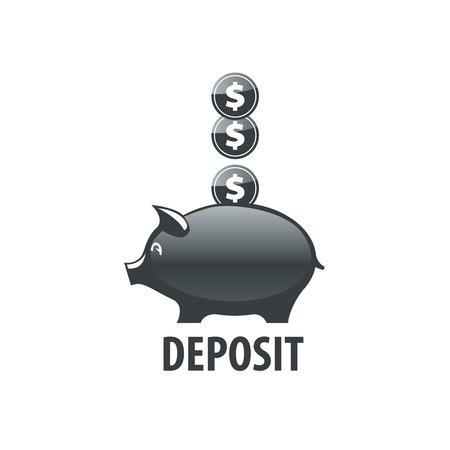 logo design template piggy bank vector illustration royalty free