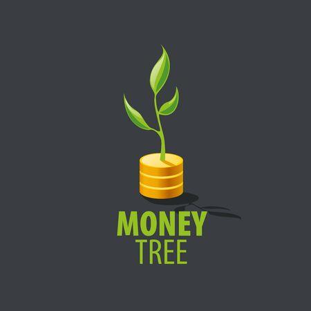 easy money: design template money tree. Vector illustration Illustration