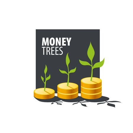 bank branch: design template money tree. Vector illustration Illustration