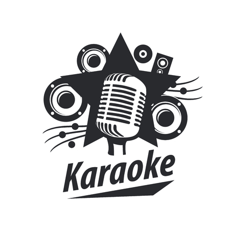 logo design template for karaoke. Vector illustration of icon Stock Vector - 62047612