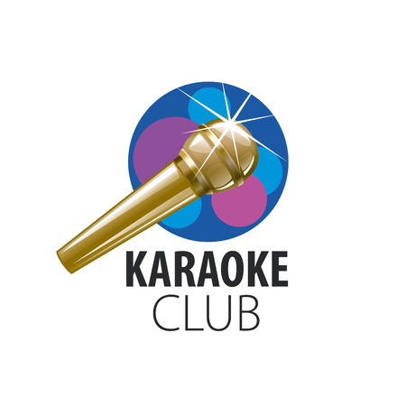 voices: logo design template for karaoke. Vector illustration of icon Illustration