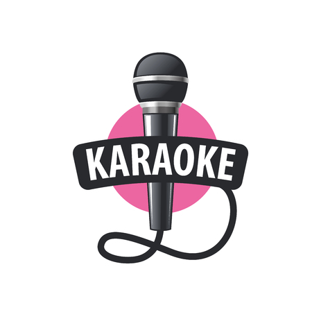 logo design template for karaoke. Vector illustration of icon Çizim