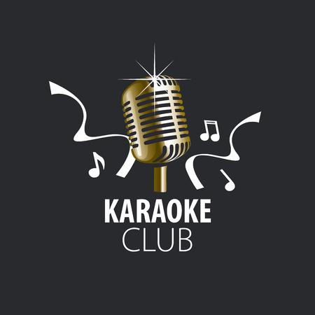 logo design template for karaoke. Vector illustration of icon Illustration