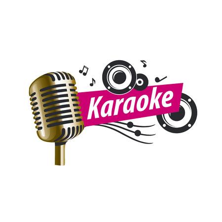 logo design template for karaoke. Vector illustration of icon Ilustrace