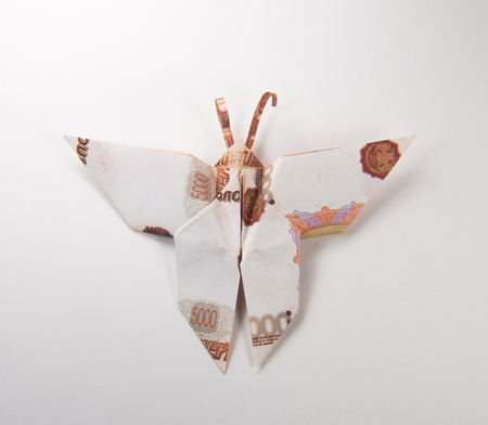 How to Make a Money Origami Butterfly Tutorial DIY at Home - YouTube | 392x450
