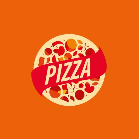 Pizza template design. Vector illustration of icon