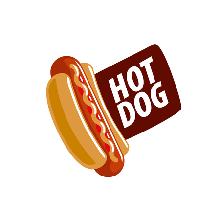 design pattern hot dog. Vector illustration of icon Illustration