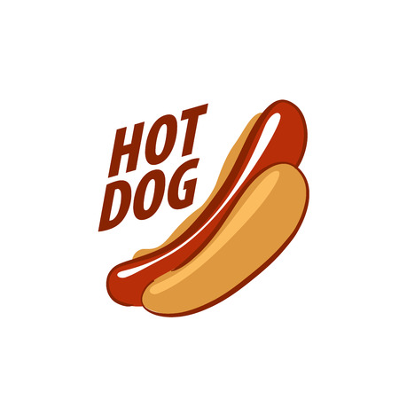 hot dog. Vector illustration of icon