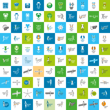 logo design pattern diet. Vector illustration of icon
