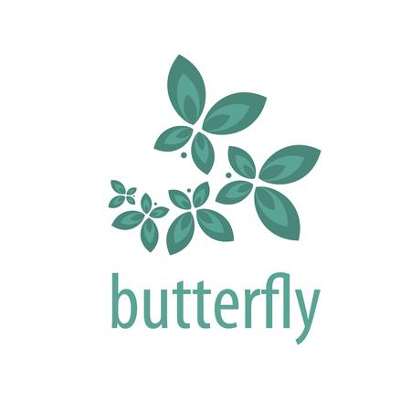 logo mariposas Patrón de diseño. Ilustración del vector del icono
