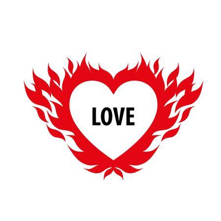 logo design template fire. Illustration vector icon