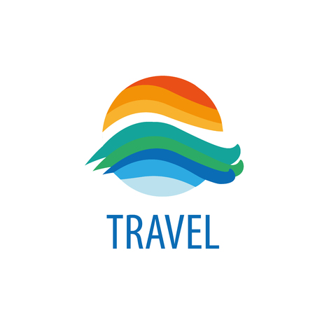 travel logo design. Vector illustration of icon