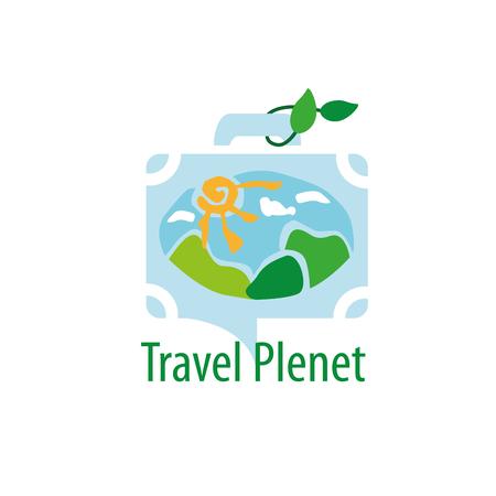 hot tour: travel logo design. Vector illustration of icon
