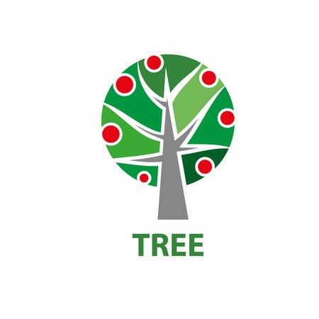educacion ambiental: diseño de logotipo de árbol. Ilustración de vector de icono Vectores