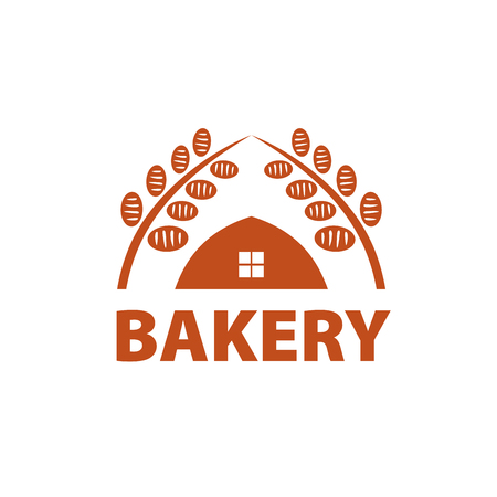 spica: logo design template for a bakery. Vector illustration of icon Illustration