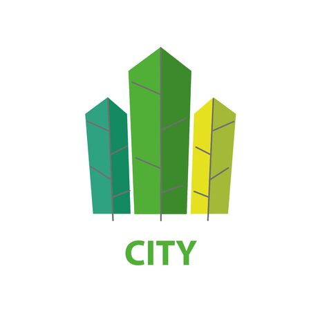 template design of the city logo. Vector illustration of icon