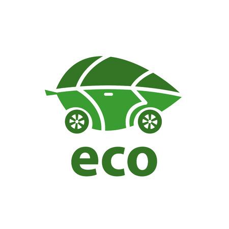 logo design template eco. Vector illustration of icon Illustration