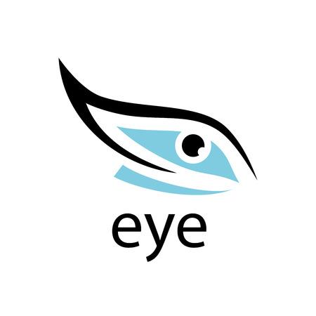 sight: logo design template eye. Vector illustration of icon Illustration