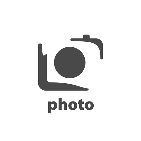 logo design template camera. Vector illustration of icon