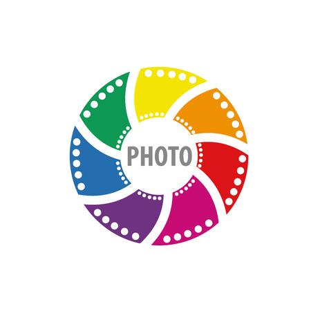 logo design template camera. Vector illustration of icon