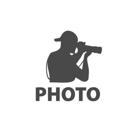 plantilla de diseño de logotipo de la cámara. Ilustración de vector de icono Logos