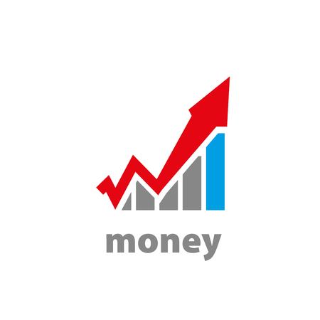 financial adviser: logo design template finance. Vector illustration of icon Illustration