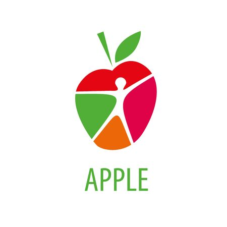 Template design logo apple. Vector illustration of icon