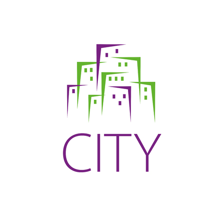 firma: template design of the city logo. Vector illustration of icon