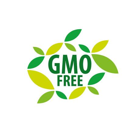 Template design logo gmo free. Vector illustration of icon Illustration