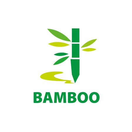 Template design logo bamboo. Vector illustration of icon Illustration