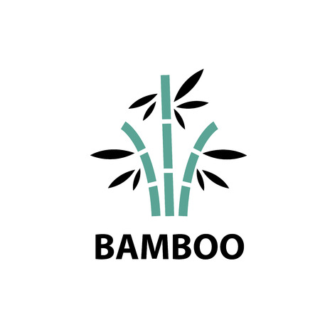 Template design logo bamboo. Vector illustration of icon Ilustração