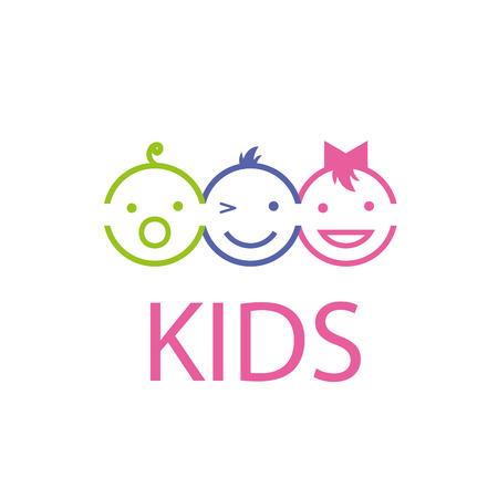 Szablon projektu logo dzieci. ilustracji wektorowych z ikoną Logo