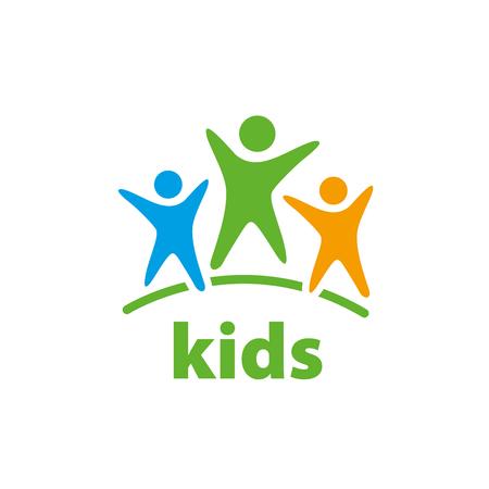 Template design logo kids. Vector illustration of icon