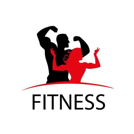 pattern design logo fitness. Vector illustration of icon