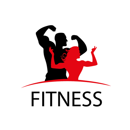 pattern design logo fitness. Vector illustration of icon