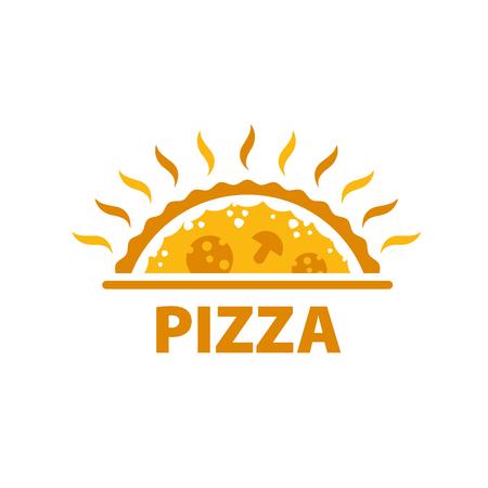 Template design logo pizza. Vector illustration of icon Illustration