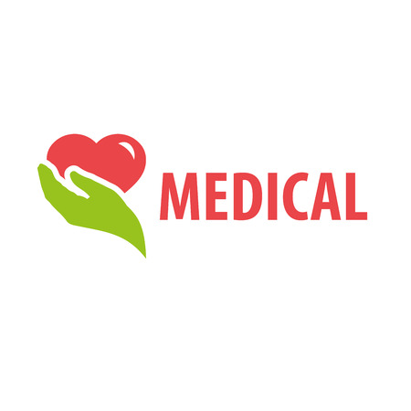 pharmaceutical company: template design logo medical. Vector illustration of icon