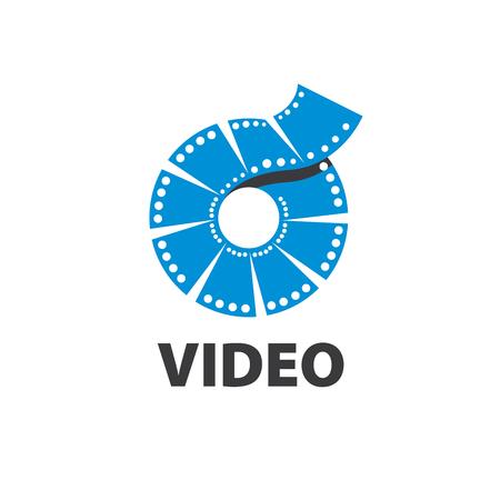 パターン デザインのロゴがビデオ。アイコンのベクトル イラスト