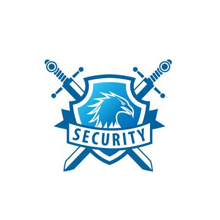 patrón de seguridad de diseño de logotipo. Ilustración del vector del icono