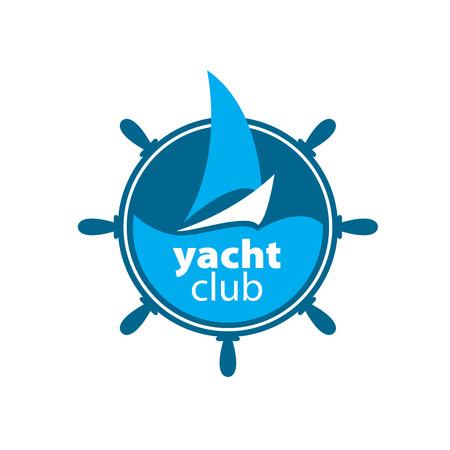 Muster-Design Logo-Yacht. Vektor-Illustration von Symbol Logo
