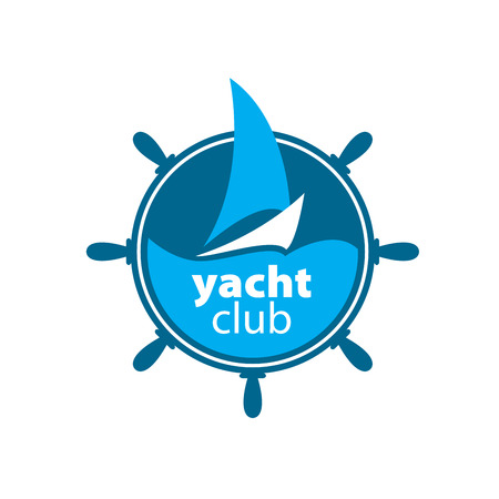 yacht: pattern design logo yacht. Vector illustration of icon
