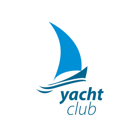 Muster-Design Logo-Yacht. Vektor-Illustration von Symbol