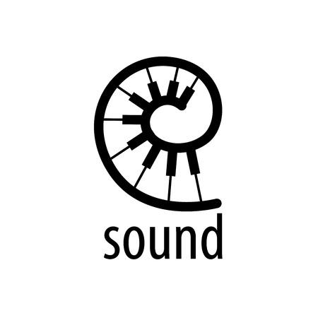 plantilla de diseño del logotipo de la música. Ilustración del vector del icono Logos