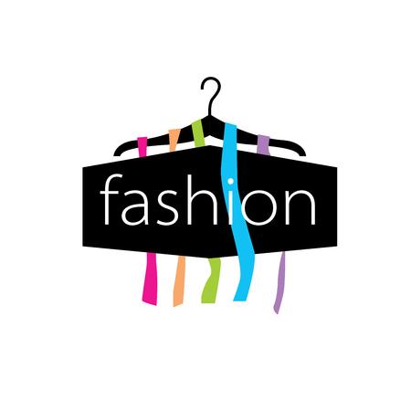 Sjabloon ontwerp logo mode. Vector illustratie van pictogram Stock Illustratie